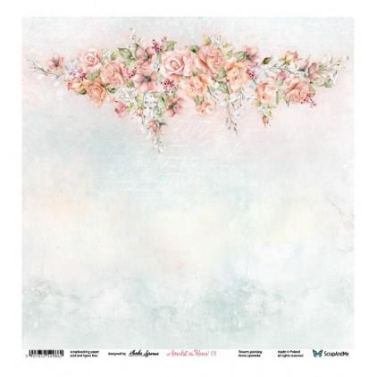 Amidst the Roses 01/02 - Scrapbooking paper 30 x 30 cm - ScrapAndMe