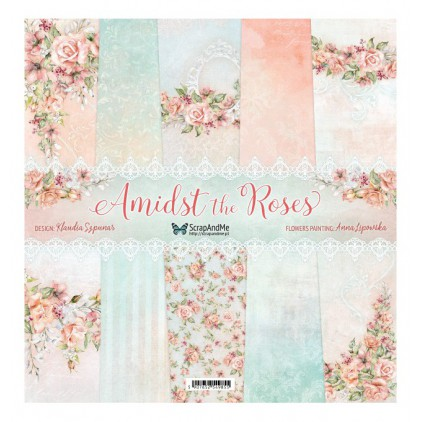 Amidst the Roses - Set of scrapbooking papers 30x30cm - ScrapAndMe