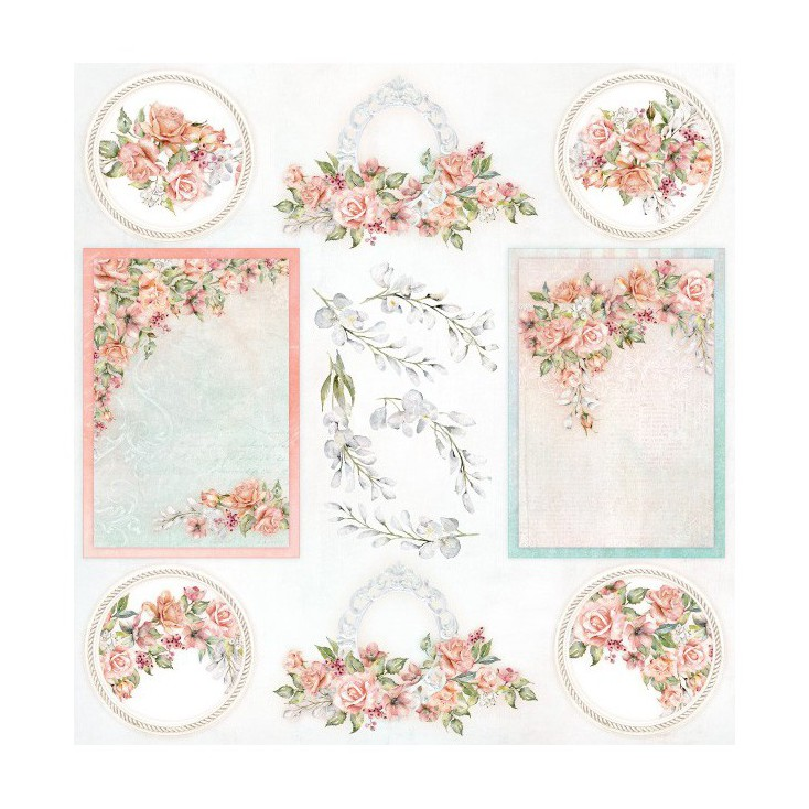 Cut out sheet 30 x 30 cm - Amidst the Roses cover - ScrapAndMe