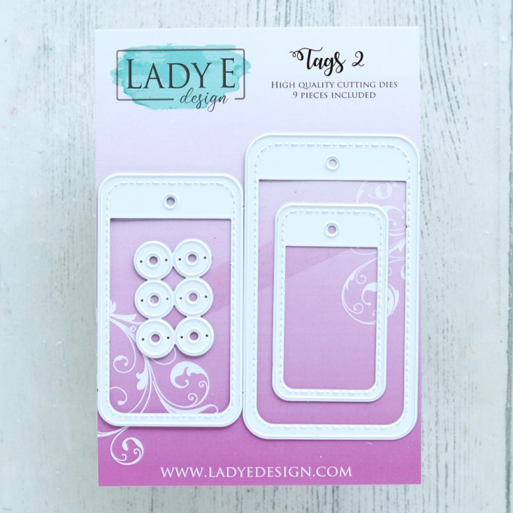 Scrapbooking Cutting Dies Set - Tags 02 - Lady E Design