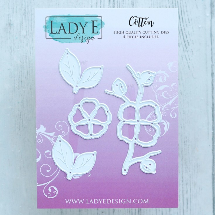 Scrapbooking Cutting Dies Set - Cotton2 - Lady E Design