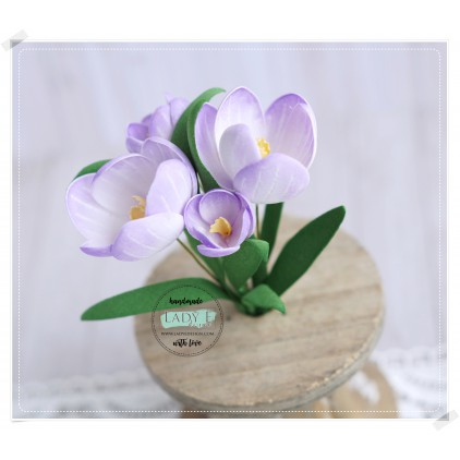 Scrapbooking Cutting Dies Set - Flower 7 Crocus - Lady E Design
