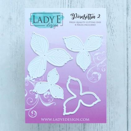 Scrapbooking Cutting Dies Set - Poinsettia 2 - Lady E Design