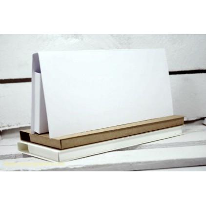 Card base - chocolate holder - white - Rzeczy z Papieru