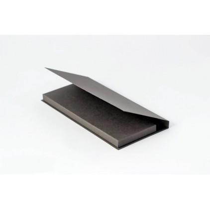 Card base - chocolate holder - gray - Rzeczy z Papieru