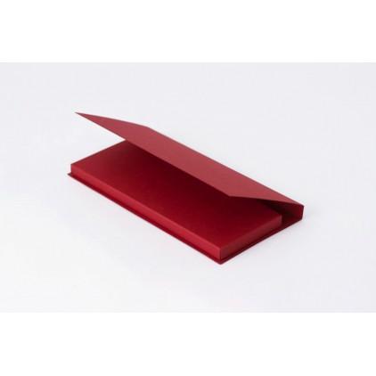 Card base - chocolate holder - red - Rzeczy z Papieru
