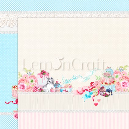 Something Sweet 06 - Lemoncraft - Double-sided scrapbooking paper