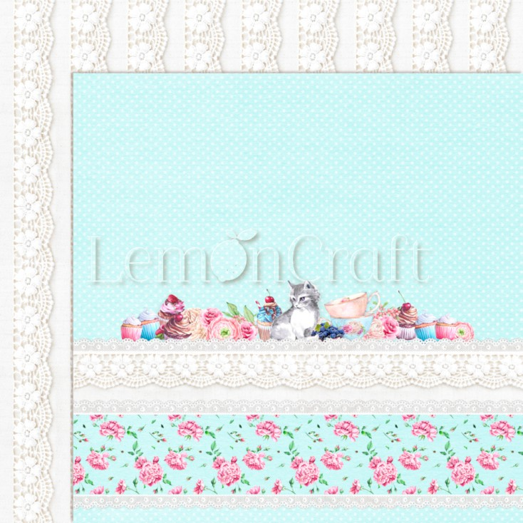 Something Sweet 05 - Lemoncraft - Dwustronny papier do scrapbookingu