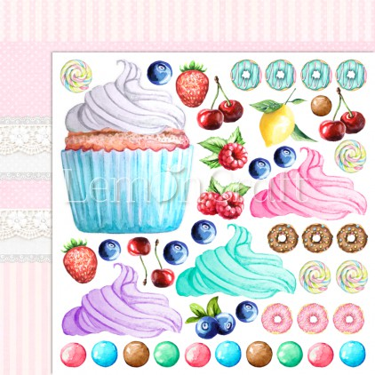 Something Sweet 04 - Lemoncraft - Double-sided scrapbooking paper