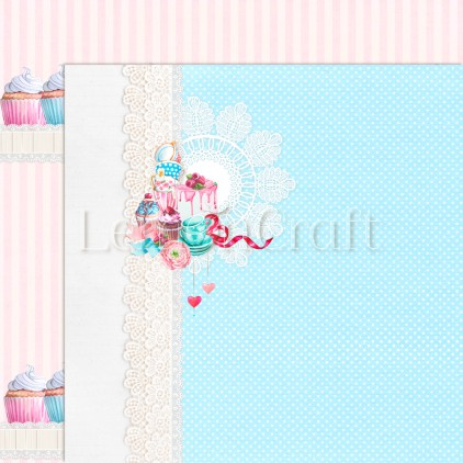 Something Sweet 01 - Lemoncraft - Dwustronny papier do scrapbookingu