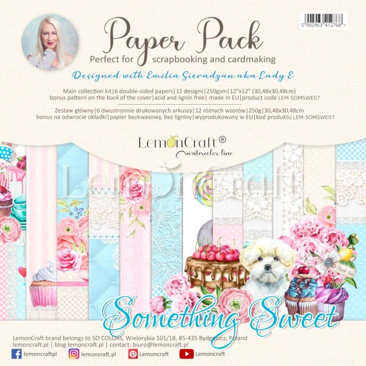 Something Sweet - Lemoncraft - Set of scrapbooking papers 30x30cm