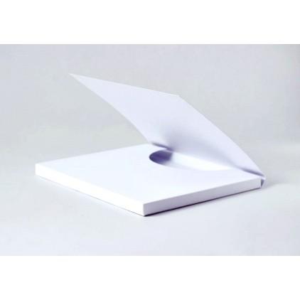 Czekoladownik duży - Baza kartkowa do ozdobienia - biała - Rzeczy z Papieru