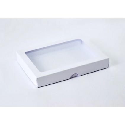 Białe pudełko z okienkiem - na kartkę - niskie C6 - Rzeczy z Papieru