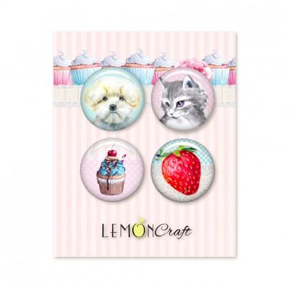 Zestaw samoprzylepnych ozdób / buttonów - Something Sweet - Lemoncraft - LEM-SOMSWE09