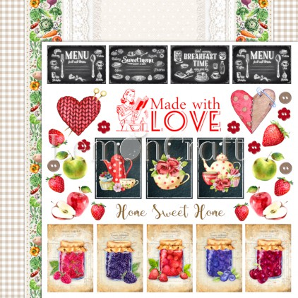 Delicious 04 - Lemoncraft - Double-sided scrapbooking paper