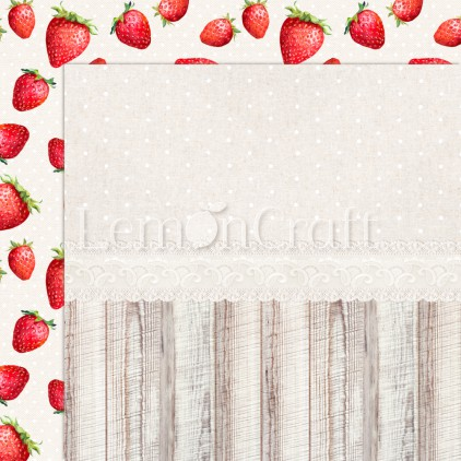 Delicious 01 - Lemoncraft - Double-sided scrapbooking paper