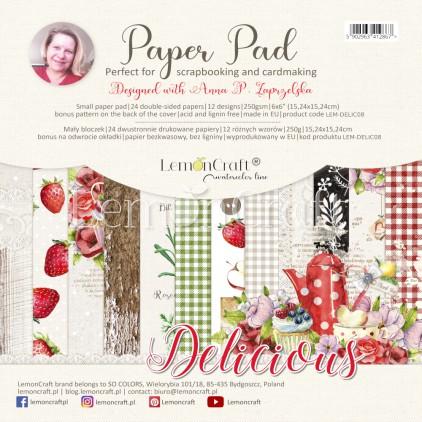 Pad scrapbooking papers 15x15cm - Delicious - Lemoncraft