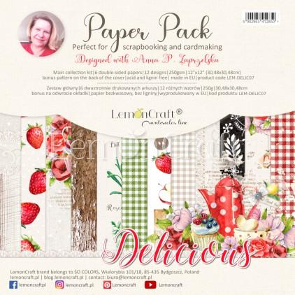 Delicious - Lemoncraft - Set of scrapbooking papers 30x30cm
