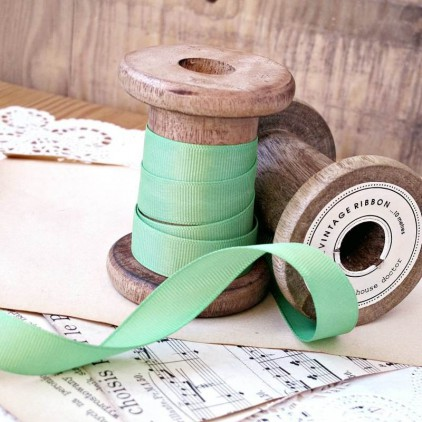 Grosgrain ribbon, 1 meter - green apple
