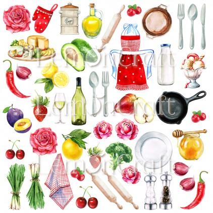 Papier z elementami do wycinania - Lemoncraft - Delicious cotouts 02
