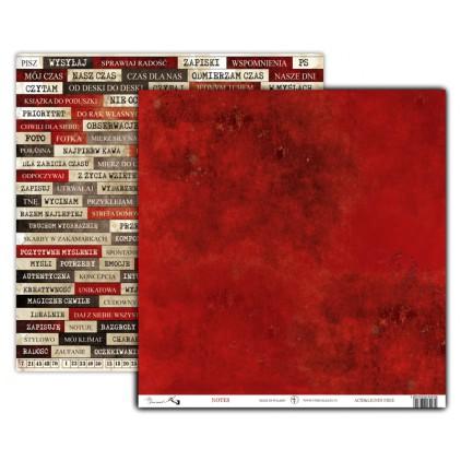 Art Journal NOTES - Scrapbooking paper 30 x 30 cm - UHK Gallery