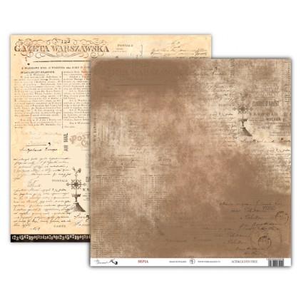 Art Journal SEPIA - Scrapbooking paper 30 x 30 cm - UHK Gallery