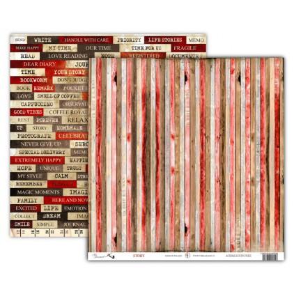Art Journal STORY - Scrapbooking paper 30 x 30 cm - UHK Gallery