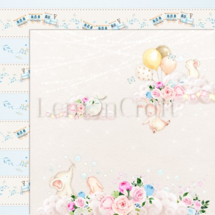 Baby Boom 04 - Lemoncraft - Double-sided scrapbooking paper