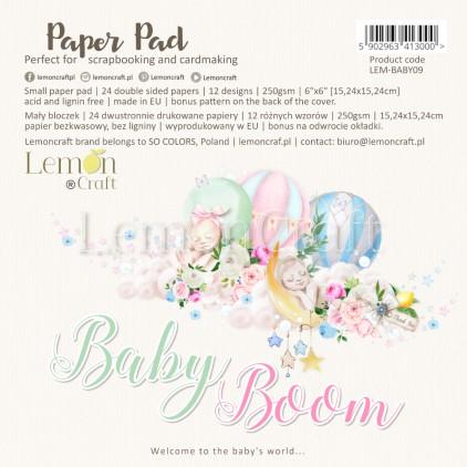 Pad scrapbooking papers 15x15cm - Baby Boom - Lemoncraft