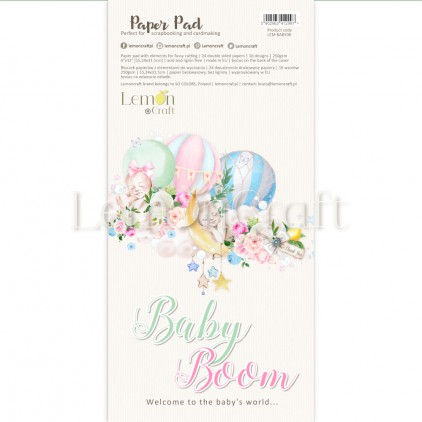 Pad scrapbooking papers 15x30.5cm - Baby Boom Elements for fussy cutting - Lemoncraft