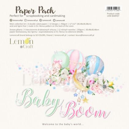 Baby Boom - Lemoncraft - Zestaw papierów do scrapbookingu 30x30cm