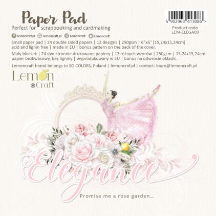 Bloczek papierów do scrapbookingu 15x15cm - Elegance - Lemoncraft