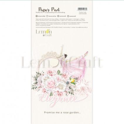 Bloczek papierów do scrapbookingu 15,24x30,5cm - Elegance Elementy do wycinania - Lemoncraft