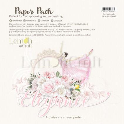 Elegance - Lemoncraft - Zestaw papierów do scrapbookingu 30x30cm
