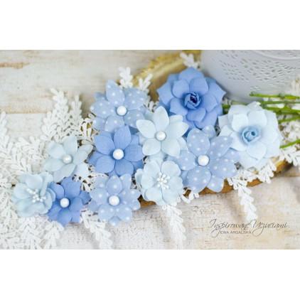 Scrapbooking flowers by Ewa Argalska - Little Boy set - 10 pieces