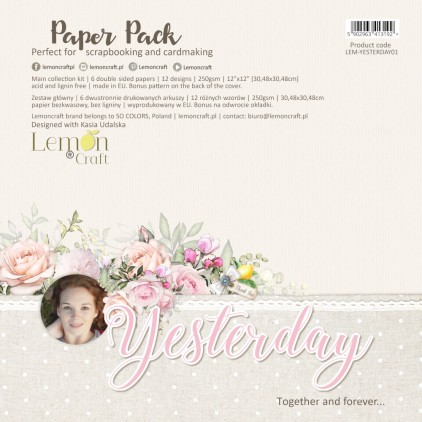 Yesterday - Lemoncraft - Set of scrapbooking papers 30x30cm
