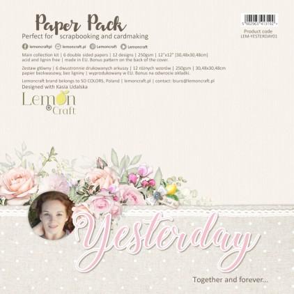 Yesterday - Lemoncraft - Zestaw papierów do scrapbookingu 30x30cm