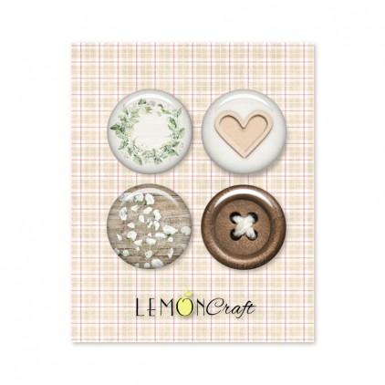 Zestaw samoprzylepnych ozdób / buttonów - Tomorrow - Lemoncraft - LEM-TOMOR04