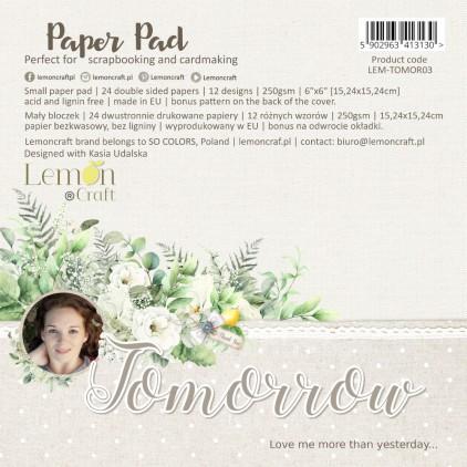 Pad scrapbooking papers 15x15cm - Tomorrow - Lemoncraft