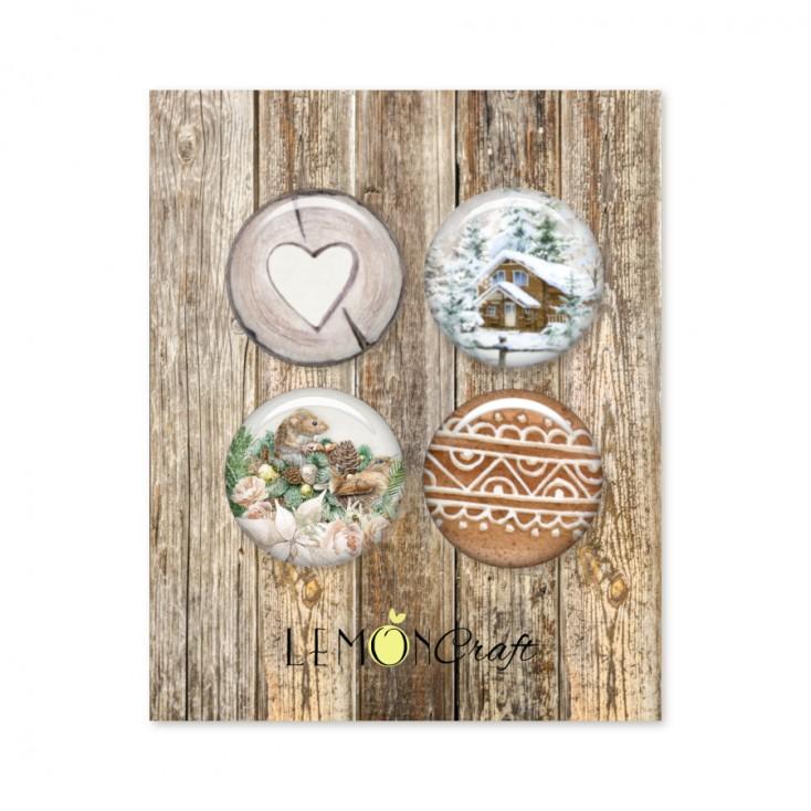 Buttons / badge - Natural Christmas - Lemoncraft