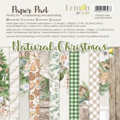 Bloczek papierów do scrapbookingu 15x15cm - Natural Christmas - Lemoncraft