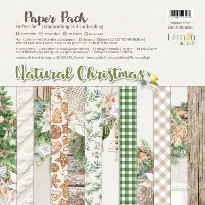 Natural Christmas - Lemoncraft - Zestaw papierów do scrapbookingu 30x30cm