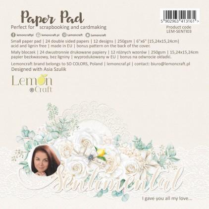 Bloczek papierów do scrapbookingu 15x15cm - Sentimental - Lemoncraft