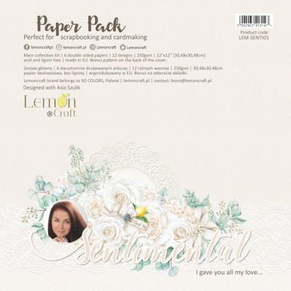 Lemoncraft - Zestaw papierów do scrapbookingu - Sentimental 30x30cm