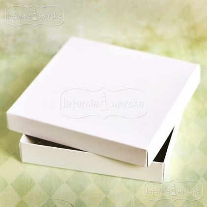 Box for square card - white