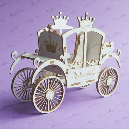 Crafty Moly - Cardboard element - Carriage 3d