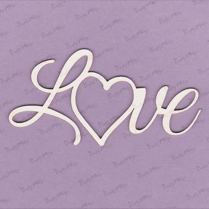 Crafty Moly - Cardboard element - inscription - Love - frame