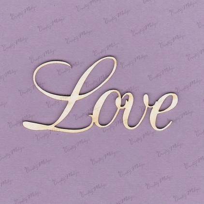 Crafty Moly - Cardboard element - Inscription - Love 1 - 2 pc