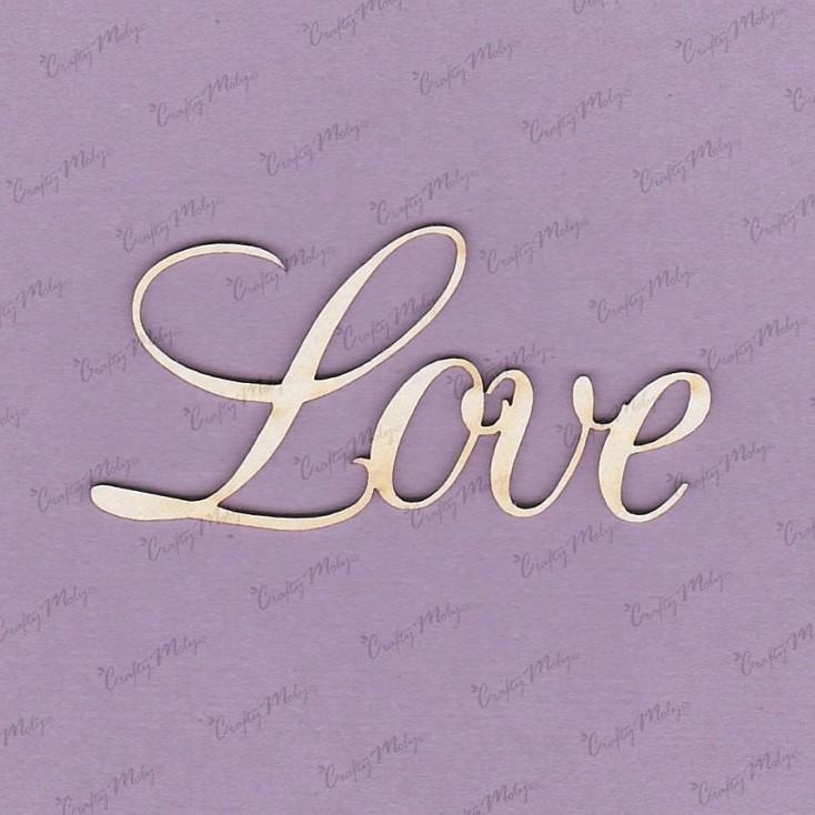 Crafty Moly - Tekturka - napis - Love 1 - 2 szt
