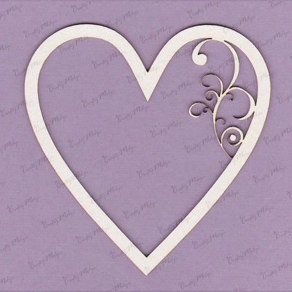 281 laser cut, chipboard - Heart frame - Crafty Moly